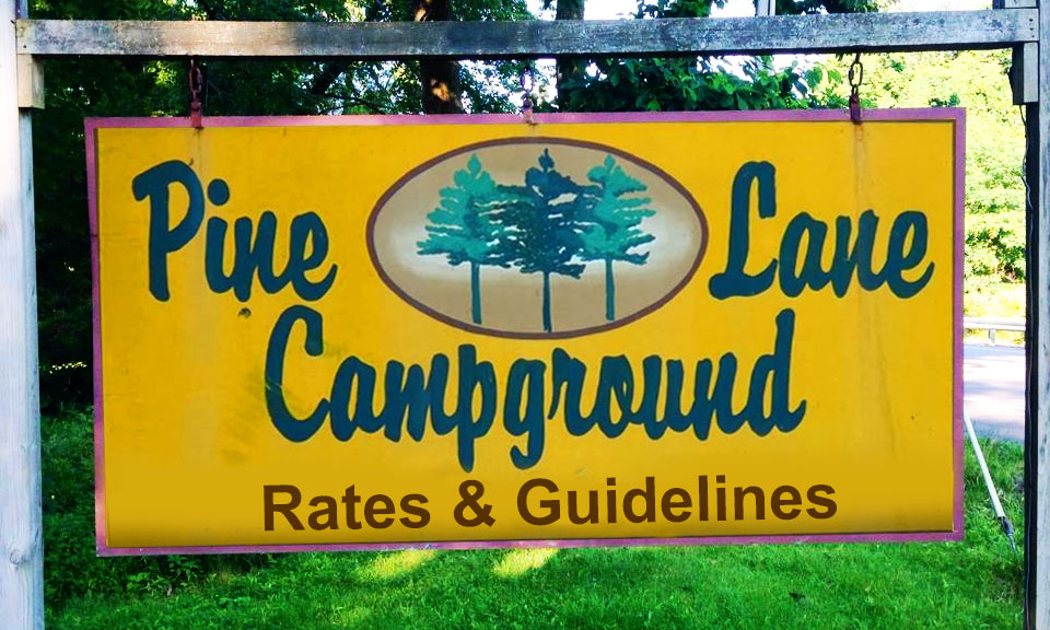 Camping Rates & Guidelines at Pine Lane Campground